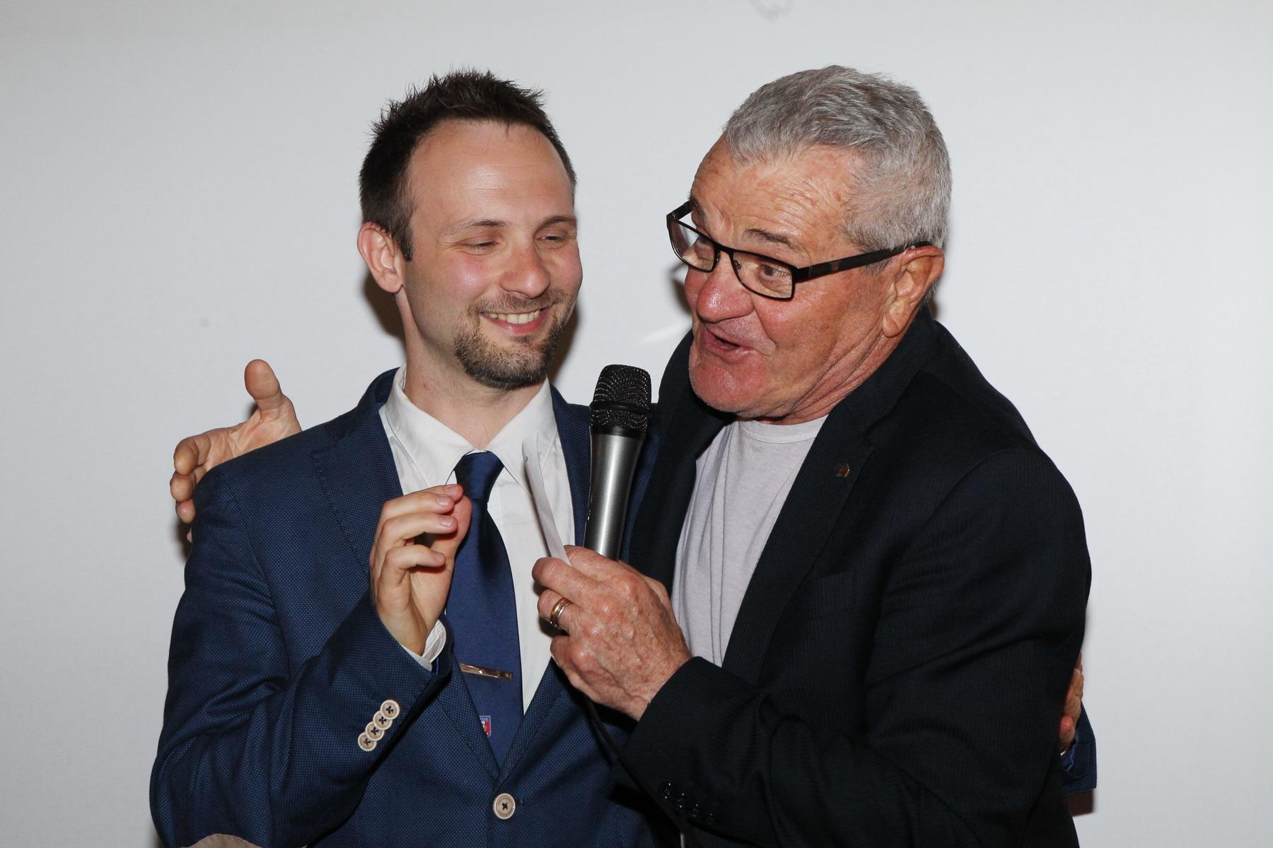 Il Presidente Marzari con il VicePresidente AVIS Marabini